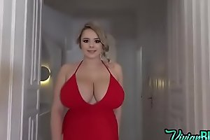 VIVIAN BLUSH - Braless Red Dress