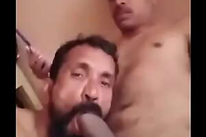 Bottom desi uncle sucking thick cock of his nephew