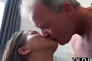 Dad and young girl