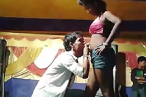 hot and sexy girl dancing kissing with her dance partner