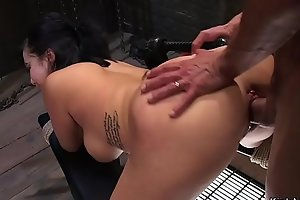 Busty Asian bdsm pussy and ass banged