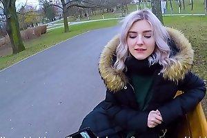 Cute teen swallows hot cum for cash - extreme public blowjob by Eva Elfie