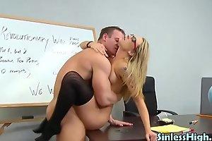 Blonde Schoolgirl Banged by Her Gym Teacher