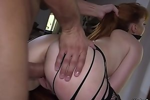 Security officer anal fucks busty redhead