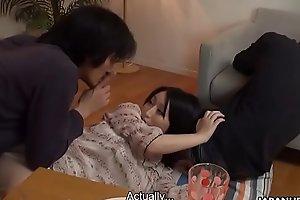 Japanese plumper, Yuna Hoshizaki fucked her crush from university, uncensored