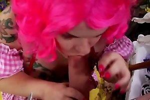Horny Midget Girl Fucks At Party
