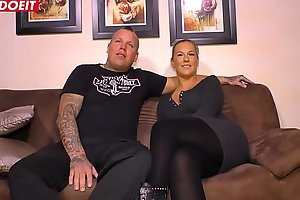 LETSDOEIT - Tattooed German Couple Fucks Hard On Their First SEXtape