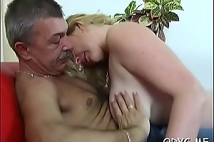 Sensual teen blonde Gabby with round natural tits enjoys deep penetration