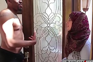 Pretty arab babe fucked by black dick