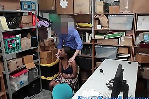 Ebony shoplifting teen