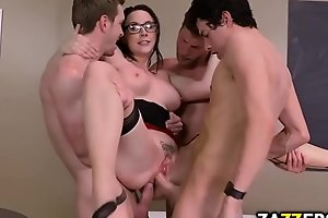 Chanel Preston got all her holes stuffed with big cocks