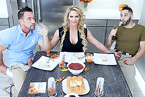 Army Boy Meets Busty Stepmom For Thanksgiving