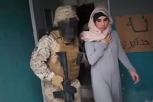 TOUR OF BOOTY - Arab Hooker Satisfies American Soldiers In A War Zone!