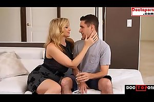 BLONDE MOM FUCKS SON