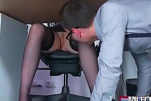 Busty Milf boss fucks beamy geek cock(Angel Wicky) 01 clip-07