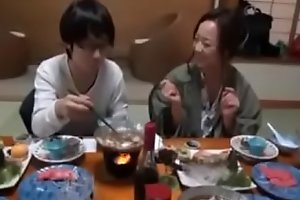 Japanese Ma shows nerdy Son how more Fuck