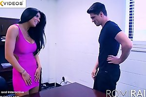Romi Rain the Be concerning charge Miss Lonelyhearts concerning the office is a Piping hot Slut!