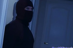 White wife fucked into ass overwrought a midnight burglar