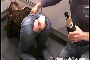 Fisting my girlfriends animalistic unbar rectal hole