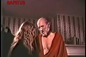 Grandpa take a mating chore to granddaughter