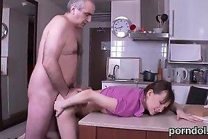 Pretty schoolgirl receives seduced and shagged by senior tutor
