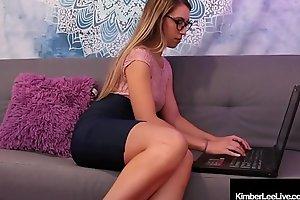 Office Slut Kimber Lee Masturbates During Work Hours!