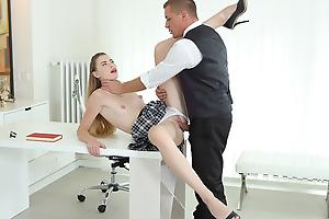 Cutie gets education through sex with teacher.