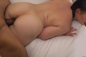 Horny PAWG with juicy melons goes wild on a big black cock