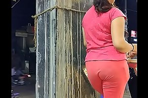 Delhi Girl Showing her hot Ass in Tight Pant Doggy Style