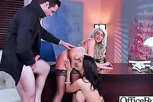 Slut Girl (Ava Addams &amp_ Riley Jenner) With Big Juggs Get Sex In Office vid-06